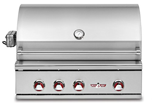 """Delta Heat 38"""" Built-In Propane (Lp) Gas Grill With Infrared Rotisserie And Infrared Sear Zone"""