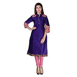 Sarvottam Chanderi silk kurta with bell sleeves P00005