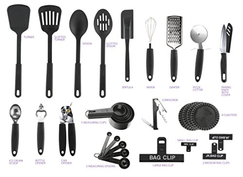 Back to school college first apartment kitchen tool set for First kitchen set