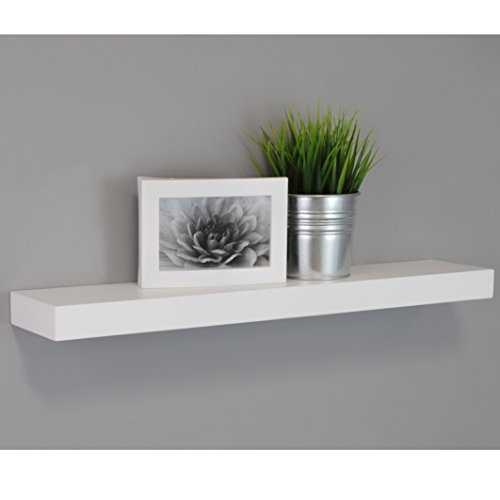 kiera grace maine wall shelf floating ledge 24 inch. Black Bedroom Furniture Sets. Home Design Ideas