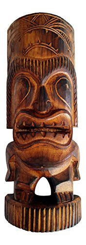 Wood Tiki Man Statue, 12
