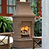 Desert Tan Outdoor Wood Burning Fireplace Mortar Free, Easy Assembly
