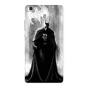 Stylish White Moon Knight Multicolor Back Case Cover for Huawei P8