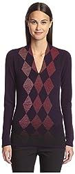 Pringle of Scotland Women's Argyle Sweater, Black, M