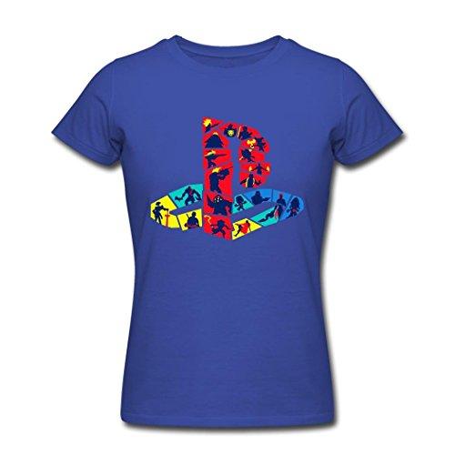 Arnoldo Blacksjd PlayStation Hot Selling Elitest Royal blue Women T-Shirt X-Large