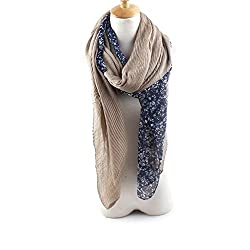 AngelShop Women Sweet Flower Splicing Scarves Shawl BYWJ