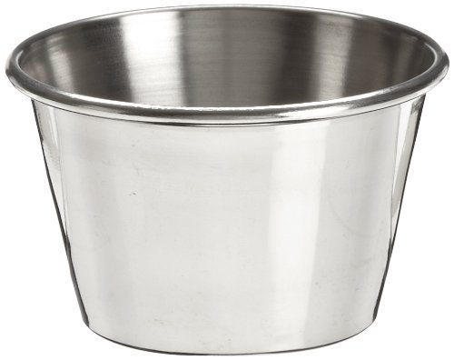 Adcraft OYC-2/PKG Stainless Steel Sauce Cup, 2-1/2 oz. (3 Pack of 12)