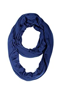 Long Infinity Scarf in Dark Blue