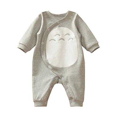 Totoro One Piece Baby Bodysuit Romper (3M),Grey