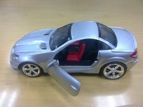 Uni-Fortune 1:32 Benz SLK55 Diecast Car in Color Silver