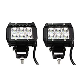 "SHANREN 2PCS 18W 4"" 6 CREE XBD LED Truck SUV Car Off-Road Headlight Spot Driving Fog Light + Mounting Bracket(Park of 2)"