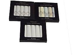 Mikado Cotton Handkerchiefs Combo of 3 Boxs for Men (15 pcs)
