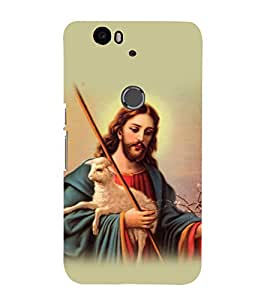 printtech Lord God Jesus Back Case Cover for Huawei Google Nexus 6P