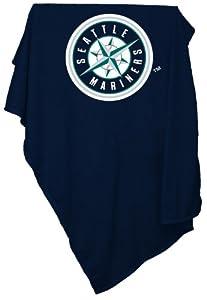MLB Seattle Mariners Sweatshirt Tackle Twill Blanket by Logo