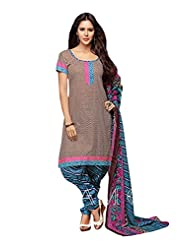 Printed Cotton Top With Cotton Bottom And Cotton Dupatta