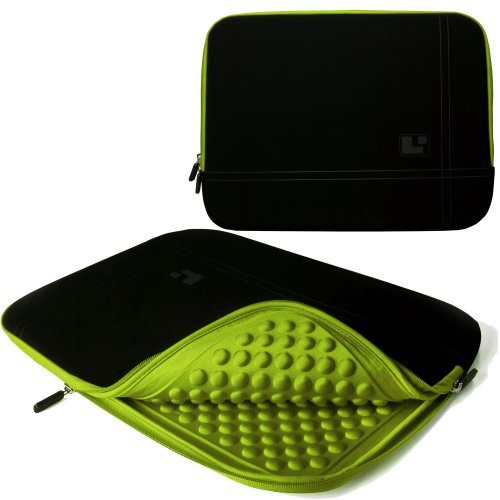 15 Inch Notebook Accessories Toxic Green Bubble Wrap Style Padded Neoprene Sleeve Carrying Case for ASUS U53Jc 15 Inch Notebooks