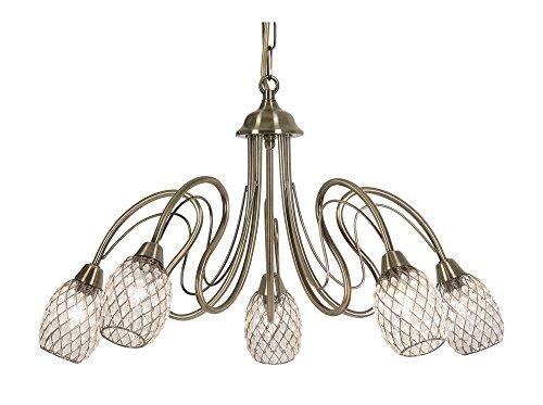 oaks-lighting-3019-5-ab-askas-lustre-finition-laiton-antique-avec-abat-jours-en-acrylique-avec-perle