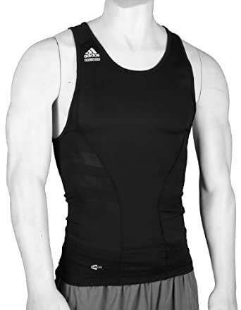 Adidas Mens TECHFIT Clima365 Athletic Tank Top (XX-Large Tall, Black)