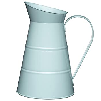 KitchenCraft Living Nostalgia Vintage 2.3 Litre/ 778 floz Metal Water Jug in Blue LNWJUGBLU