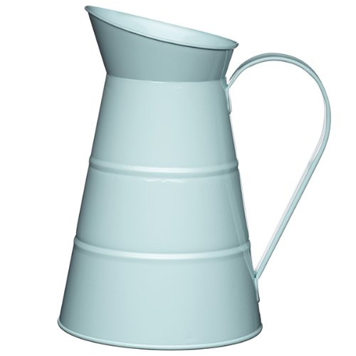KitchenCraft Living Nostalgia Vintage 2.3 Litre/ 778 floz Metal Water Jug in Blue LNWJUGBLU 0