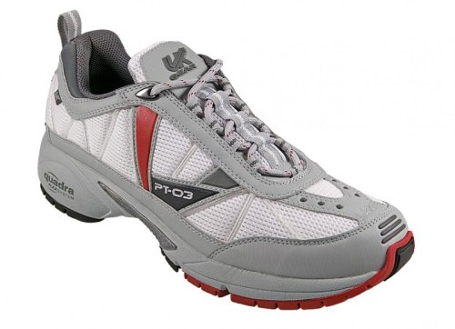 UK Gear Women's PT-03 NC Trail Running Shoes,White/Grey/Red/Black,8 M US