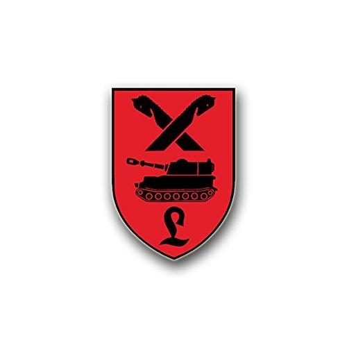 Aufkleber / Sticker - PzArtLehrBtl95 Aufkleber Sticker Panzer Bataillon Panzerartillerielehrbataillon Wappen Abzeichen Emblem passend für Mustang Opel VW Golf 7x5cm #A7801
