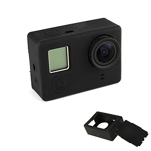 Oumers discount duty free Sport Camera Case For GoPro Hero 4 / 3+, Oumers Silicone Cover Soft Case Rubber Protective Case Cover Protector Skin for Gopro Hero4 Hero3+ (Black)