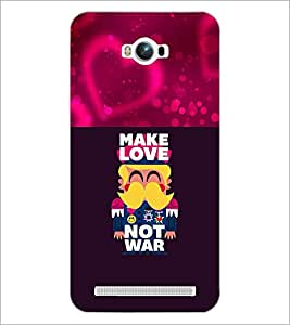 PrintDhaba Love Quote D-1050 Back Case Cover for ASUS ZENFONE MAX ZC550KL (Multi-Coloured)