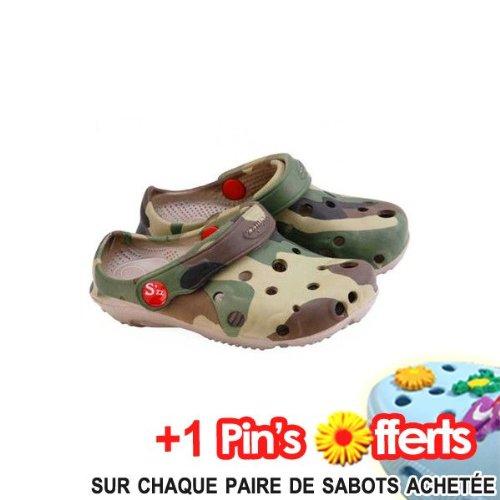 Sabot Plastique Enfant, Schuzz Globule Camouflage - Taille 29