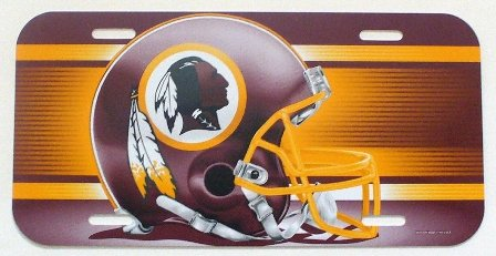 NFL Washington Redskins 6″ x 12″ Styrene Plastic License Plate