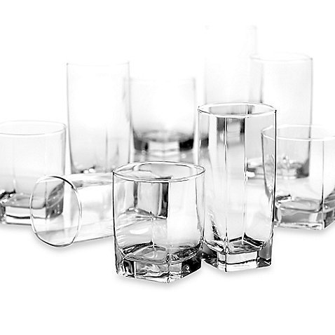 DailywareTM Sterling 16-Piece Set, Modern Designed Glasses (16 Piece Beverage Set compare prices)