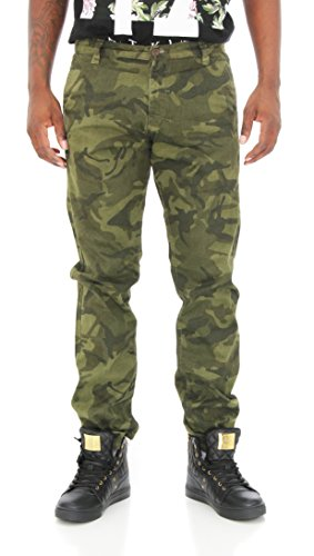 Imperious Men's Slim Fit Twill Camo Pants-Green Camo-40/34 (Imperious Camo compare prices)