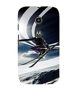 PrintVisa Travel Skiing Adventure Design 3D Hard Polycarbonate Designer Back Case Cover for Motorola Moto E2