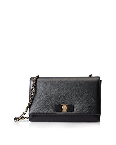 Ferragamo Women's Medium Vara Flap Bag, Black