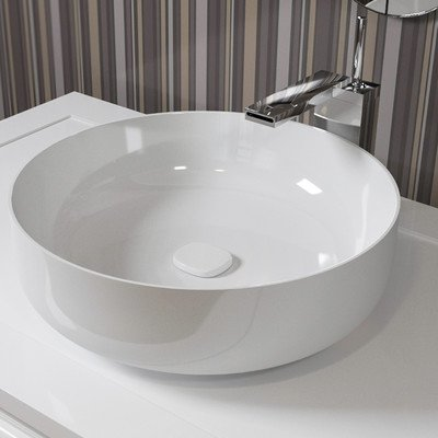Metamorfosi Round Ceramic Bathroom Vessel Sink