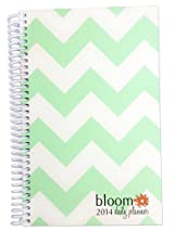 2014 bloom Calendar Year Daily Day Planner Fashion Organizer Agenda January 2014 Through December 2014 Mint Chevron