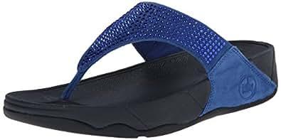 FitFlop Women's Rokkit Flip Flop, Devon Blue, 5 M US