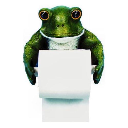 frog bath toilet paper holder bathroom home decor