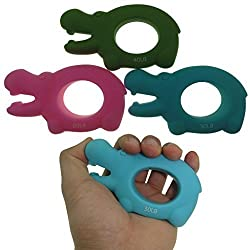 MAXSOINS Hippo Hand Grip Strengthener Exercisers Set of 3 with Increased Resistances Perfect for Increasing Hand, Finger, Wrist, and Forearm Strength,Couple paragraph grip, Valentines Day gift