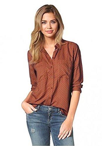 TOM TAILOR - Camicia - Con bottoni  - Maniche lunghe  -  donna rosso S