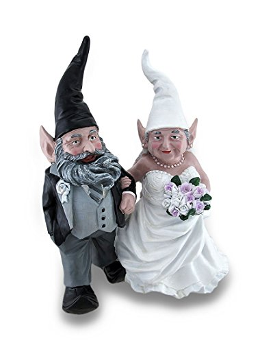Wedding Couple Mr. and Mrs. Bride and Groom Garden Gnome Statue 15 In.