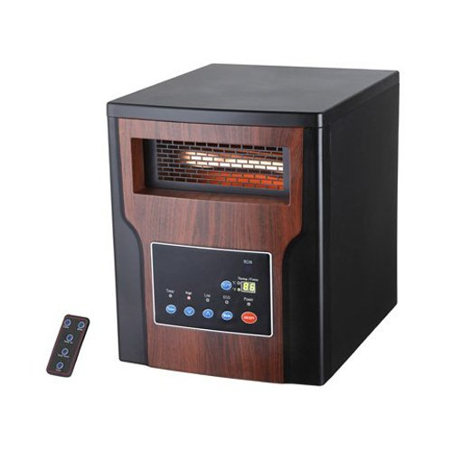 Westpointe GD9215BC1B Wood Infrared Heater, Black