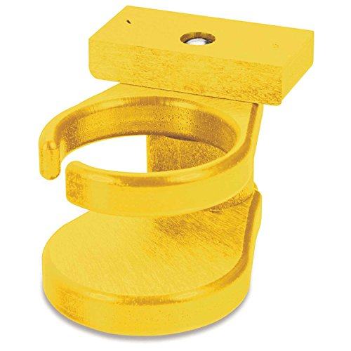 """Recycled Plastic Adirondack Chair Cup Holder, Yellow, 6""""L X 4""""W X 4""""H"""