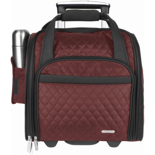 Travelon 64542 Wheeled Underseat Carry-on with Back-Up Bag in Red