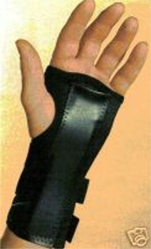 Splinted Left Wrist Brace Support