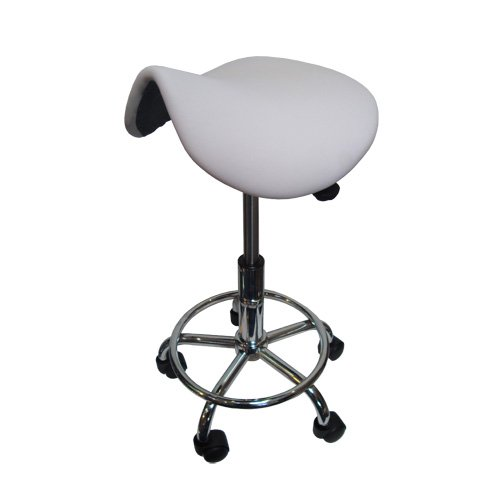 Saddle WHITE Bar Stool x 1