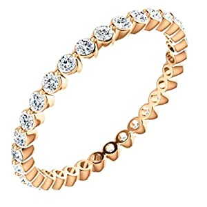 14kt Rose 3/4 CTW Diamond Eternty Band Size 5.5 in 14k Rose Gold