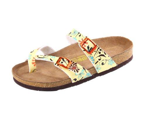 Devo Women's Hotsale Crosss Strap Cork Covered Summer Beach Sandal Slides