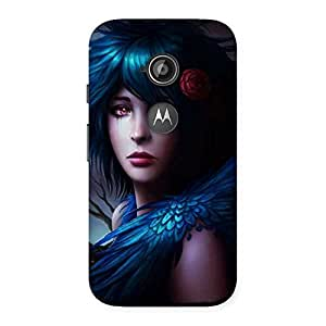 Special Crossed Angel Multicolor Back Case Cover for Moto E 2nd Gen