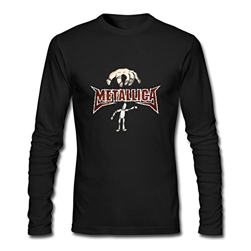 Men's Metallica Wallpaper Long-Sleeve Cotton Cool T-Shirt Tommery XXXL (Metallica Devil Shirt compare prices)